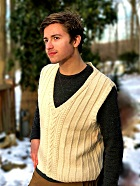 Download Aran-Inspired Vest