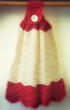 Crochet Ripple Kitchen Towel