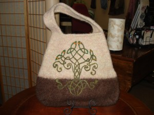The Gentle Arts Customer Project Felted Bag