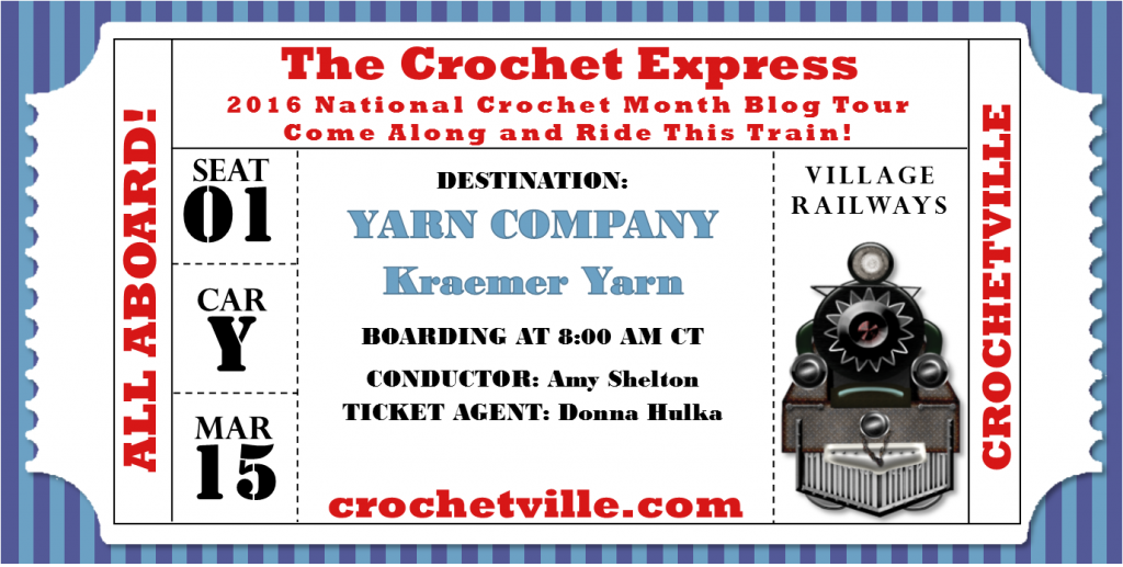 Kraemer Yarns Crochet Express blog tour